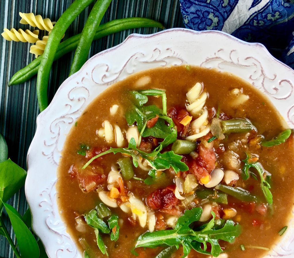 Soups On: Hearty Minestrone Soup with Fresh Arugula